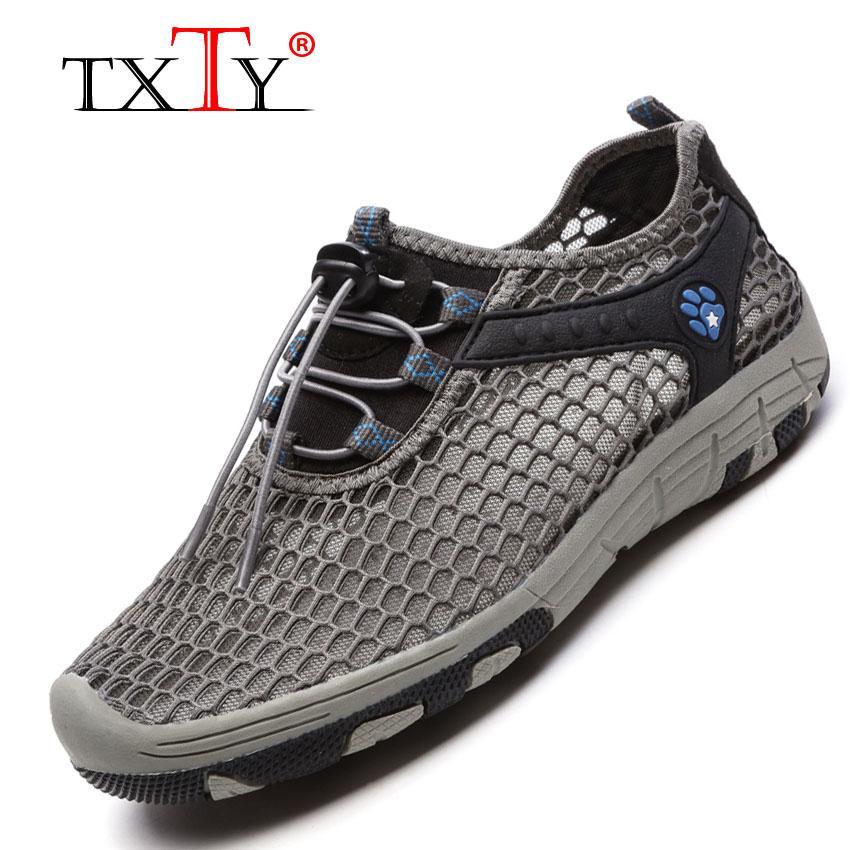 Txty Pasangan Sepatu Sepatu Jala Bernafas Sepatu Olahraga Pria Beberapa Kain Jaring Tide Deodoran Sepatu Sepatu