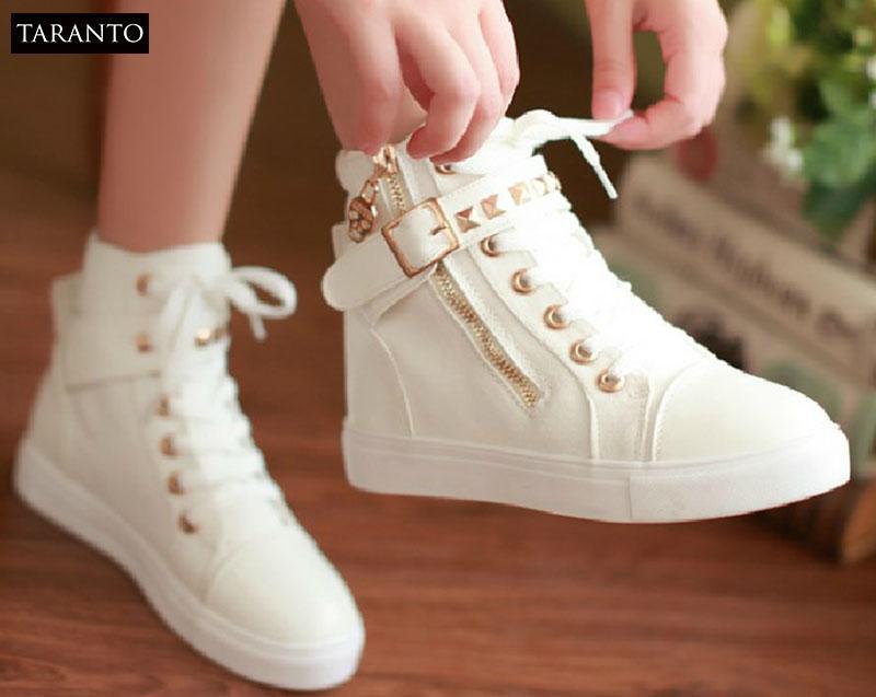 Hình ảnh Giày thể thao nữ cổ cao TARANTO TRT-GTTNU-06-TR (màu trắng)