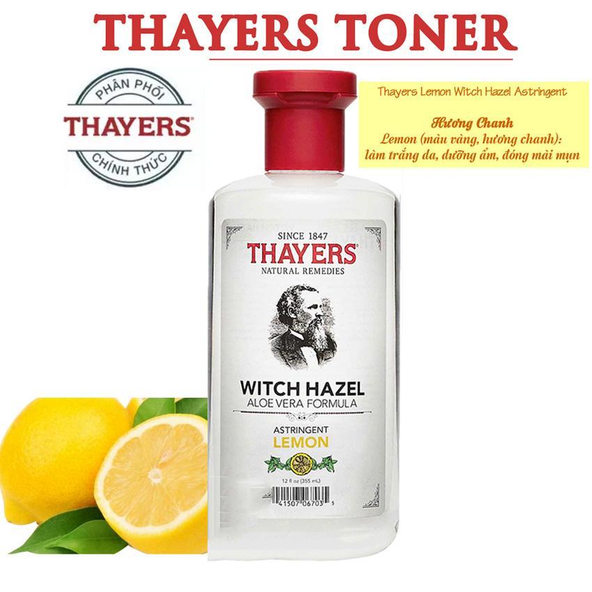Giá Bán Nước Hoa Hồng Khong Chứa Cồn Hương Chanh Thayers Alcohol Free Witch Hazel Toner Lemon 355Ml Thayers