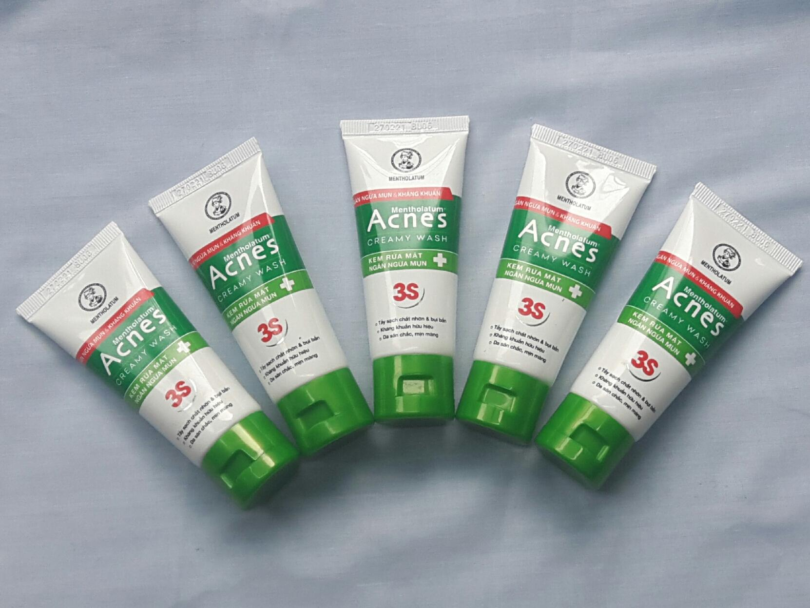 Combo 5 tuýp Kem rửa mặt trị mụn Acnes Creamy Wash (25g/tuyp)