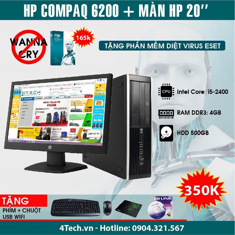 Hình ảnh Máy tính đồng bộ HP Compaq 6200 Pro SFF Core i5 2400 RAM 4GB HDD 500GB màn hình 20