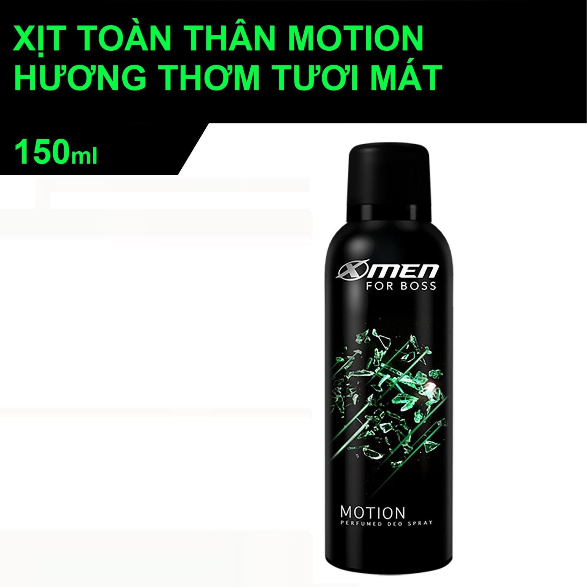 Xịt nước hoa Pháp thơm body toàn thân Xmen Motion