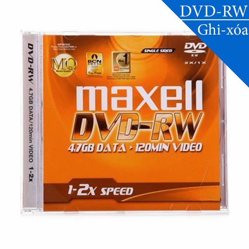 Hình ảnh Đĩa trắng DVD-RW (ghi và xóa nhiều lần) 4.7GB 120min 1x-2x MAXELL (1 chiếc)