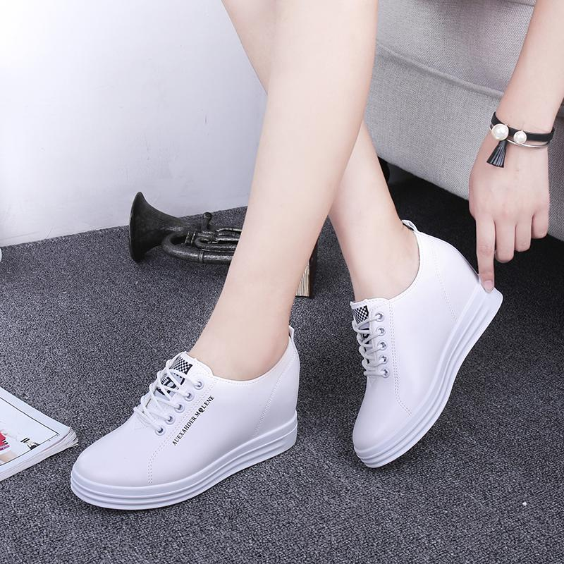 2c646381d083 Is small white shoe female 2018 springs are new style of inside increase  Gao student 100