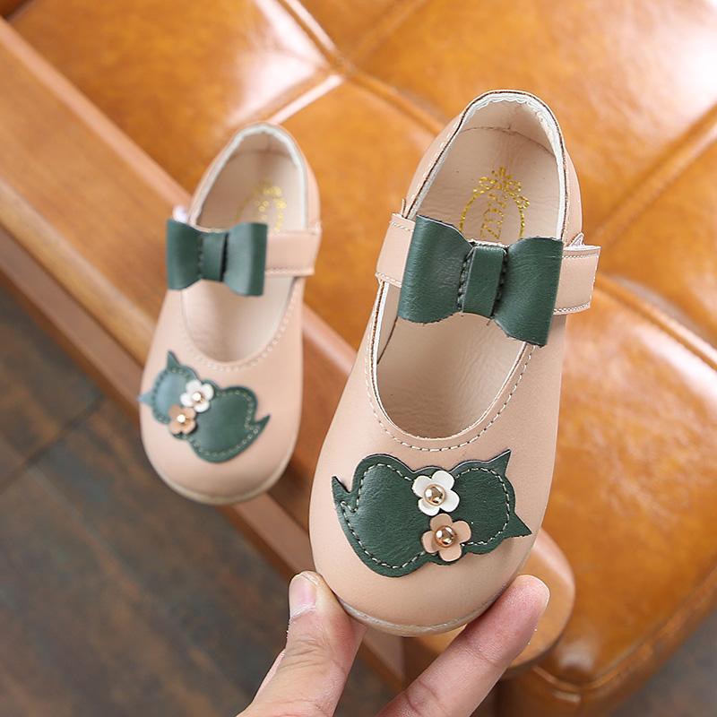 2018 Musim Gugur Model Baru Anak Prempuan Sepatu Kulit Sepatu Putri Sepatu Bersol Lembut Bayi Anak