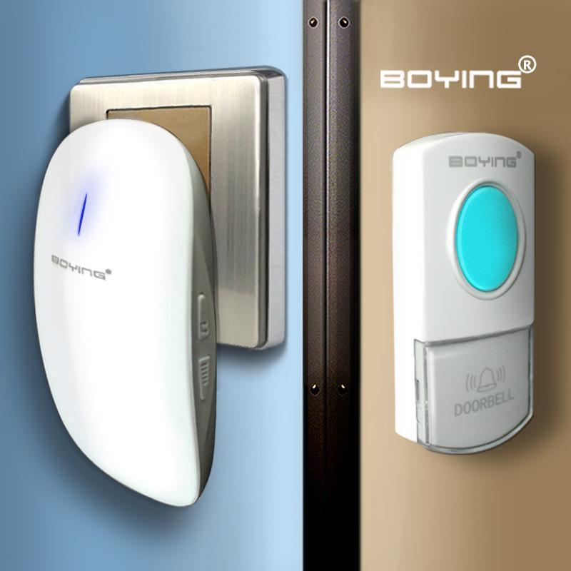 B-boy A302 Satu untuk Satu Bel Rumah Nirkabel Rumah Tangga AC Digital Bel Bel Pintu Kedap Air Bel Pintu Musik ()