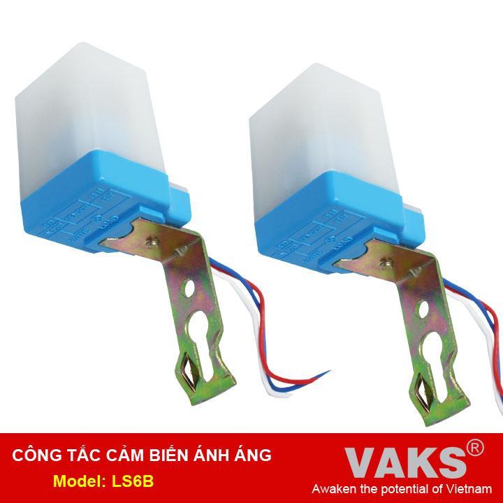 Bộ 2 Công tắc cảm biến ánh sáng LS6B, 220v, 1000w, SX TẠI VN