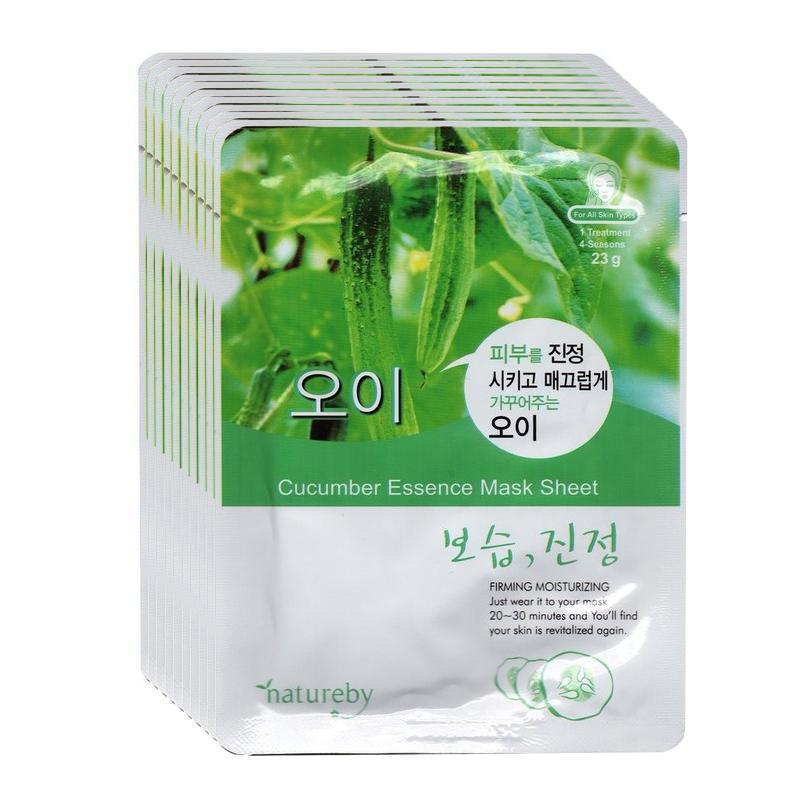 Mặt nạ dưỡng da Dưa Leo - NATUREBY Hàn Quốc (10 cái) tốt nhất