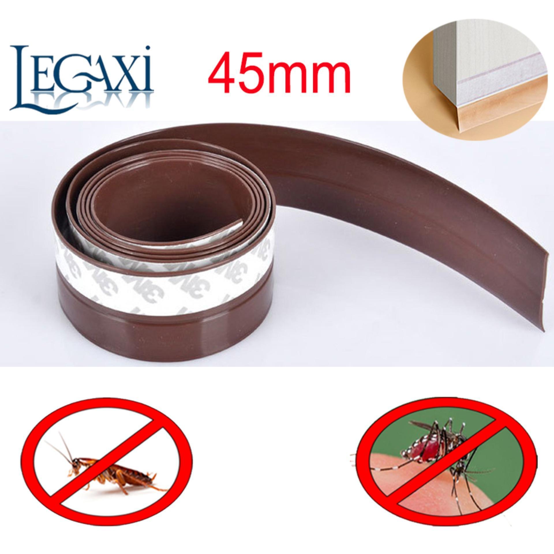 Hình ảnh Ron Dán Chân Cửa Dài 2 mét Che Khe Hở Ngăn Côn Trùng Ruỗi Muỗi Gián Rộng 45mm Legaxi SWD7