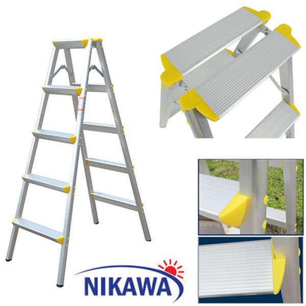 Thang nhôm gấp chữ A Nikawa NKD05 - 5 bậc 1,3m NHẬT BẢN