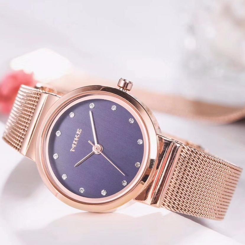 Chiết Khấu Sản Phẩm Canado Đồng Hồ Nữ Mike Ladies Luxury Watch Mk001 Chống Xước Chống Nước Vang Hồng
