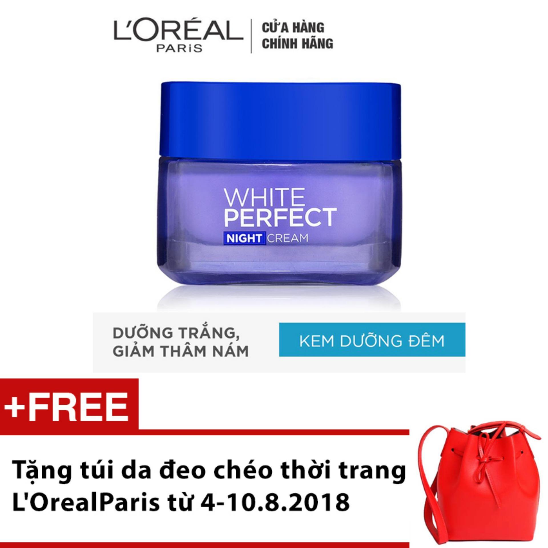Hình ảnh Kem dưỡng trắng da vitamin L'oreal Paris White Perfect ban đêm 50ml