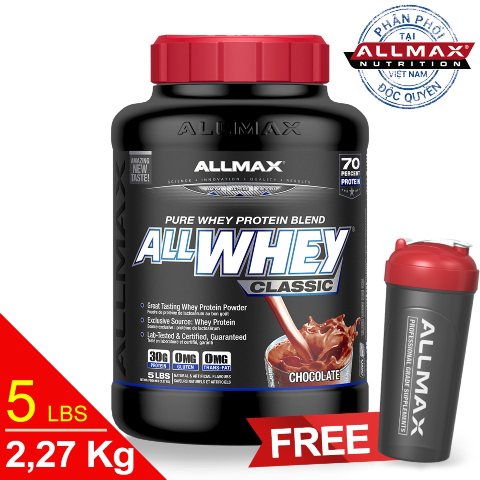 Hình ảnh Thực phẩm bổ sung whey protein thể thao ALLMAX ALLWHEY CLASSIC CHOCOLATE 5lbs