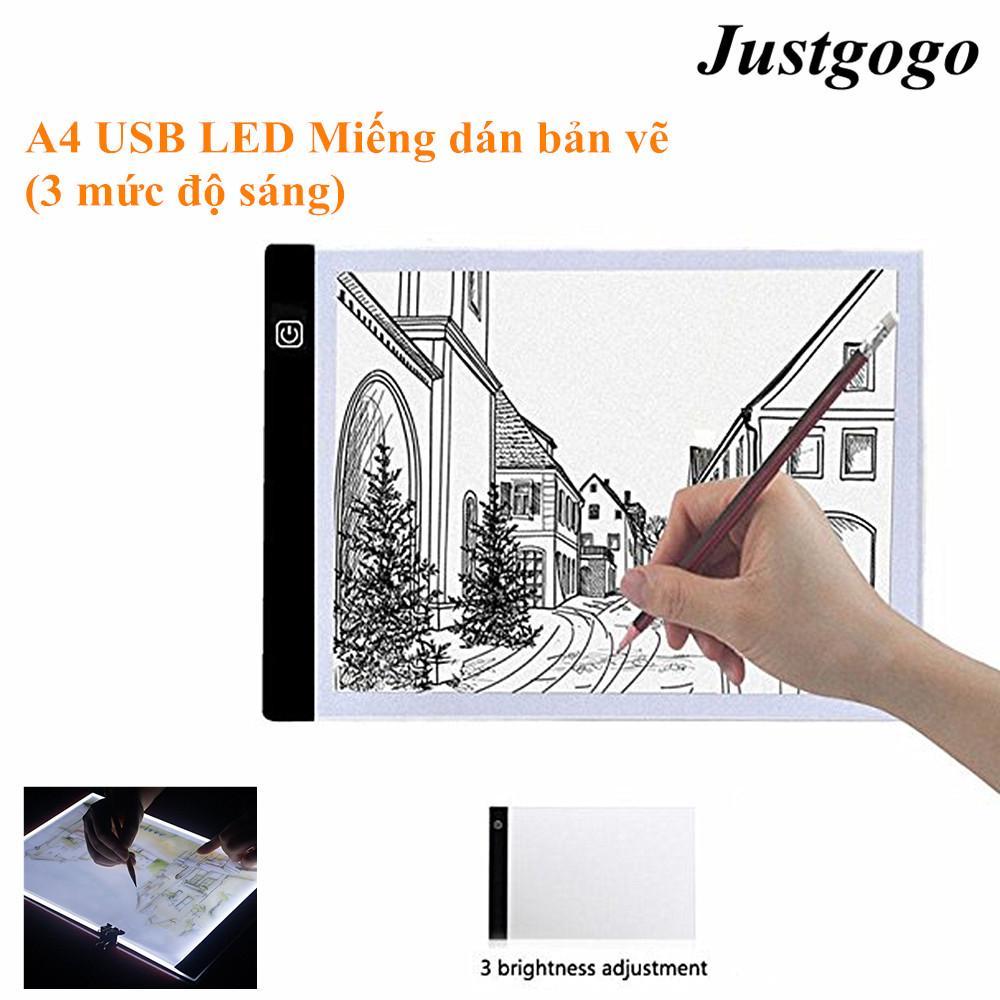 Hình ảnh Justgogo A4 LED Nghệ Sĩ Đồ Họa Mỏng Nghệ Thuật Stencil Vẽ Bảng Hộp Ánh Sáng Truy Tìm Bảng Pad Ba cấp