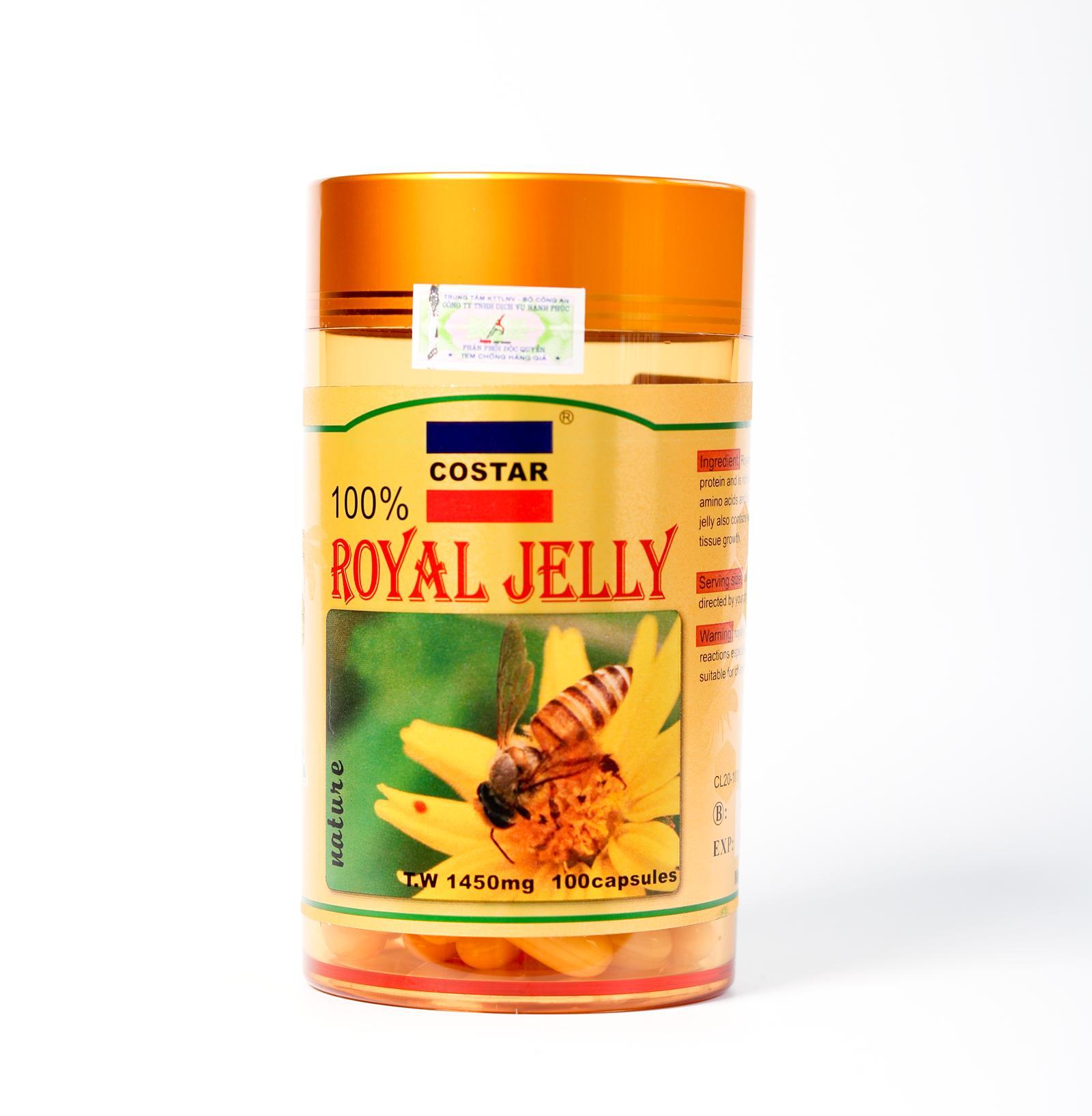 Sữa Ong Chúa Costar Úc Royal Jelly Soft Gel Capsules 1450mg (100 viên)