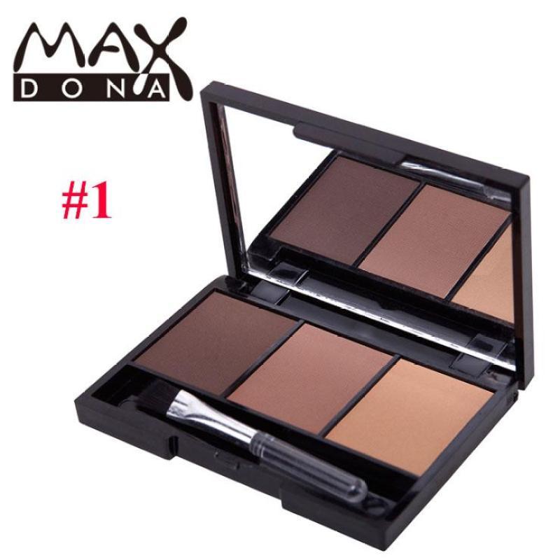 Bột tán mày hộp 3 khay màu Maxdona BT30 nhập khẩu