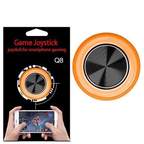 Hình ảnh Nút Bấm Chơi Game Mobile Joystick Q8 Đế Bám Dính Siêu Tốt Nhiều Màu - Màu Cam