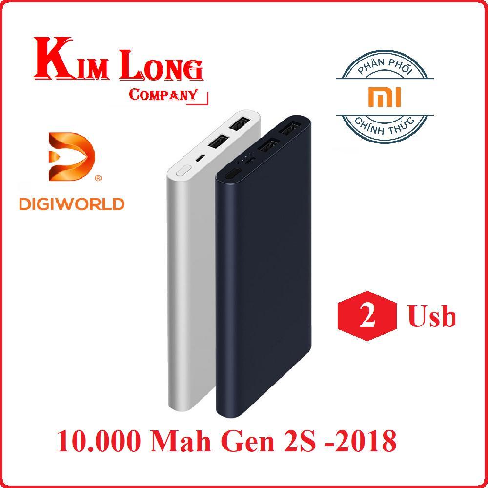 Giá Bán Pin Sạc Dự Phong Xiaomi 10000Mah Gen 2S Quick Charge 3 Digiworld Phan Phối Chinh Thức Xiaomi