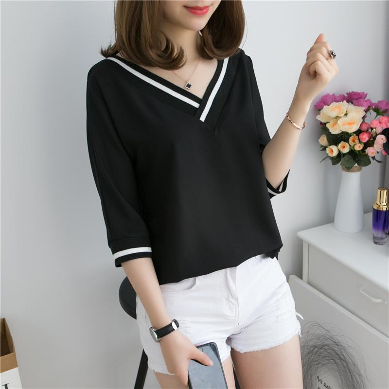 23da20f2f65ca6 Short Sleeve T-shirt Female 2019 New Style Large Size Dress Fat Mm Loose  Hide
