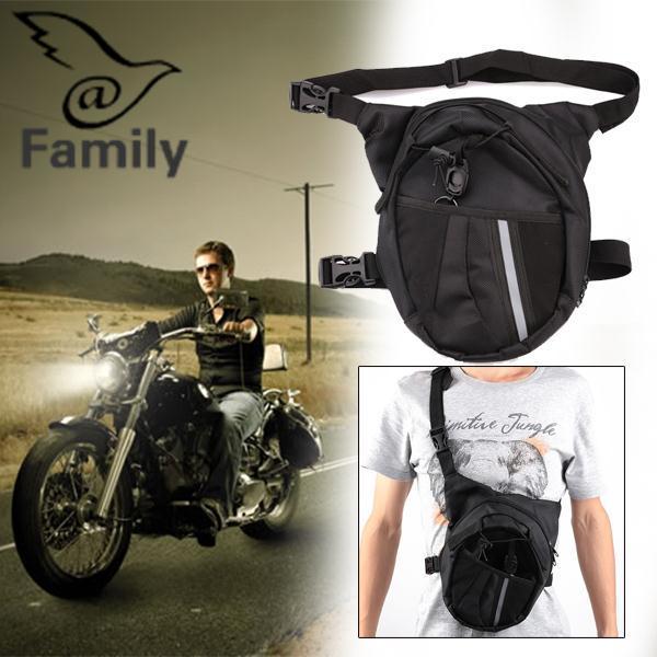 Hình ảnh Big Family Men Pack Waterproof Motorcycle Riding Hiking Rider Waist Bag Drop Leg Bags - intl