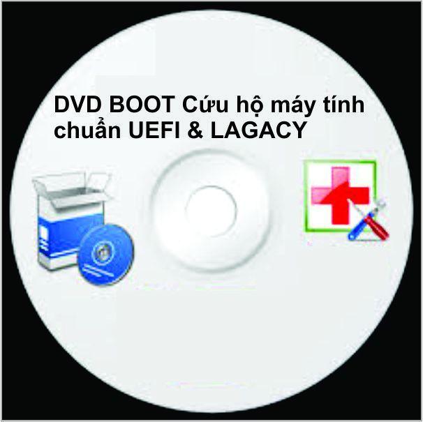 Hình ảnh DVD BOOT CỨU HỘ MÁY TÍNH CHUẨN UEFI _LAGACY