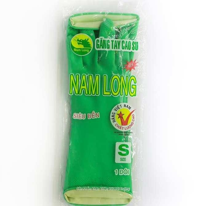 Combo 10 đôi gang tay cao su Nam Long siêu bền màu xanh lá size S
