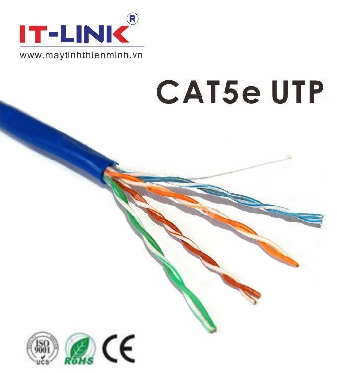 Hình ảnh Dây cáp mạng CAT5E UTP 3 mét bấm sẵn 2 đầu màu xanh