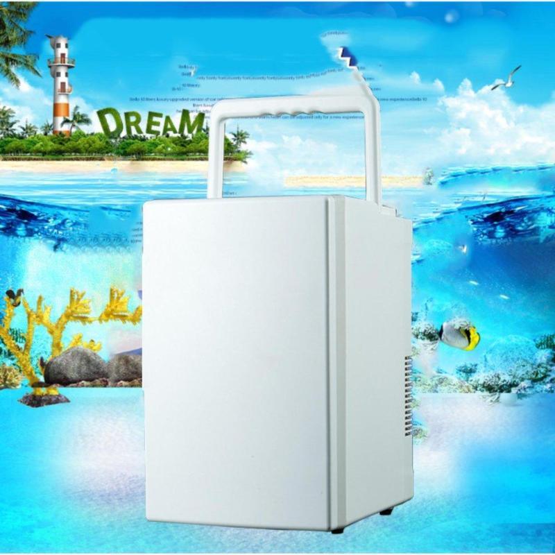 Tủ lạnh mini 18L có 2 chiều nóng lạnh cho nhà hẹp hoặc mang đi chơi, du lịch