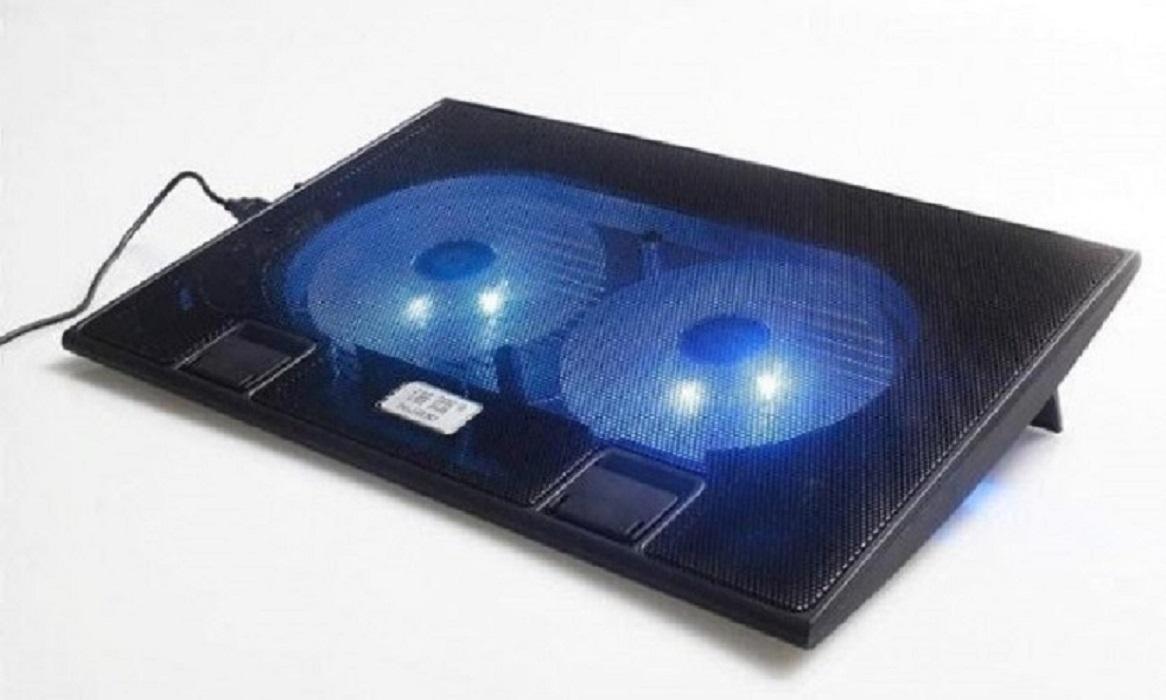 Hình ảnh Đế tản nhiệt Laptop CoolingPad L6 được trang bị 2 quạt lớn có đèn LED