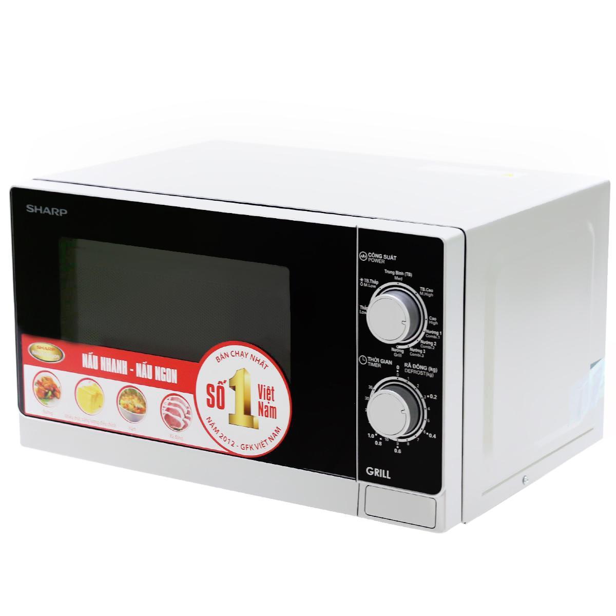 Hình ảnh Lò vi sóng có nướng Sharp R-G222VN-S 20 lít
