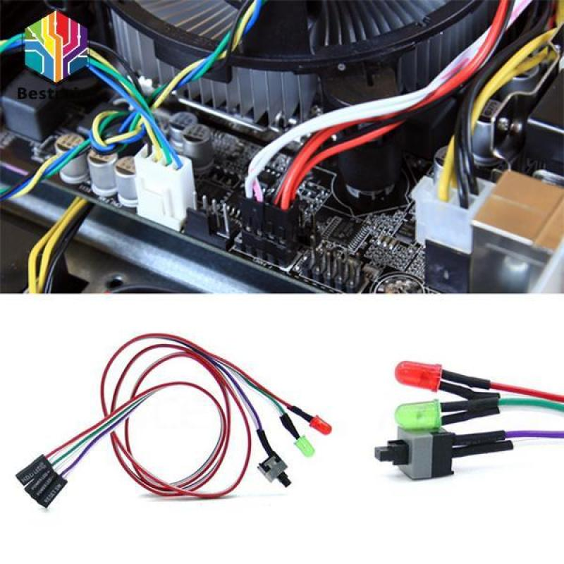 Bảng giá Universal ATX Computer Motherboard Power Switch Cable Line With LED Light Phong Vũ