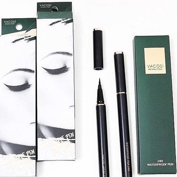 Bút Kẻ Mắt Vacosi Waterproof Pen 24h Pro 5ml (Đen) tốt nhất