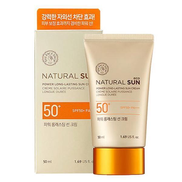 Hình ảnh Kem chống nắng Natural Sun Eco Power Long Lasting Sun Cream SPF50+ PA+++ The Face Shop