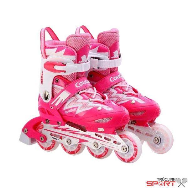 Giầy trượt patin Cougar Hồng chỉnh size S( 31 -34) , size M(34-38) , size L(37- 42)