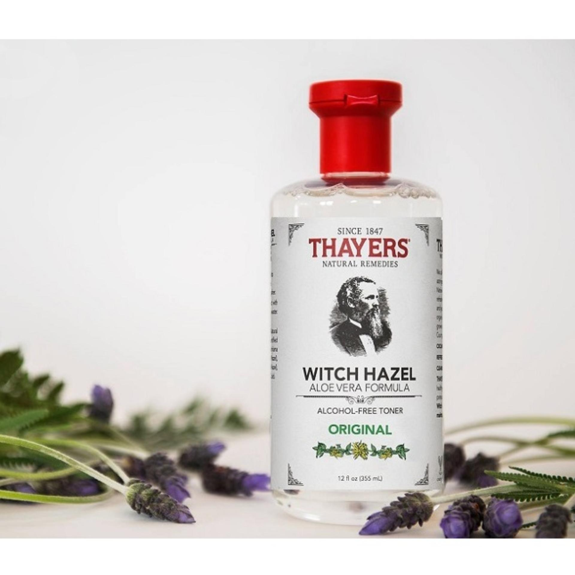 Nước hoa hồng không cồn THAYERS® Alcohol-Free Original Witch Hazel Toner 355ml (Dành cho mọi loại da)