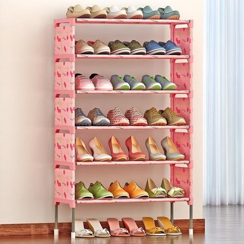 New Shoe Rack Space Saving Shoe Cabinet Dust Proof Moisture Proof Shoes Organizer Living Room Furniture Shoes Holder Shelf
