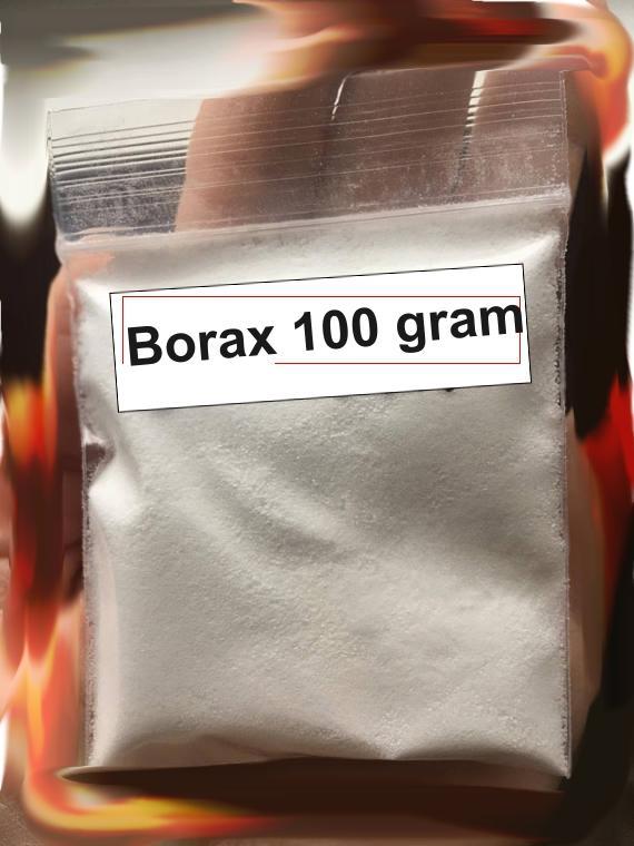 Hình ảnh Bột borax mỹ 100 gram- chất làm đông slime