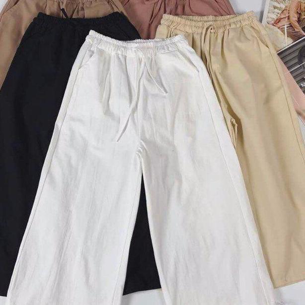 quần nữ ống rộng nhiều màu