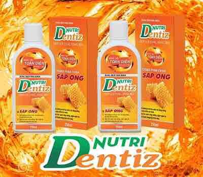 Dung dịch nha khoa Nutri Dentiz - Giúp lợi chắc, răng bền, thổi bay hôi miệng