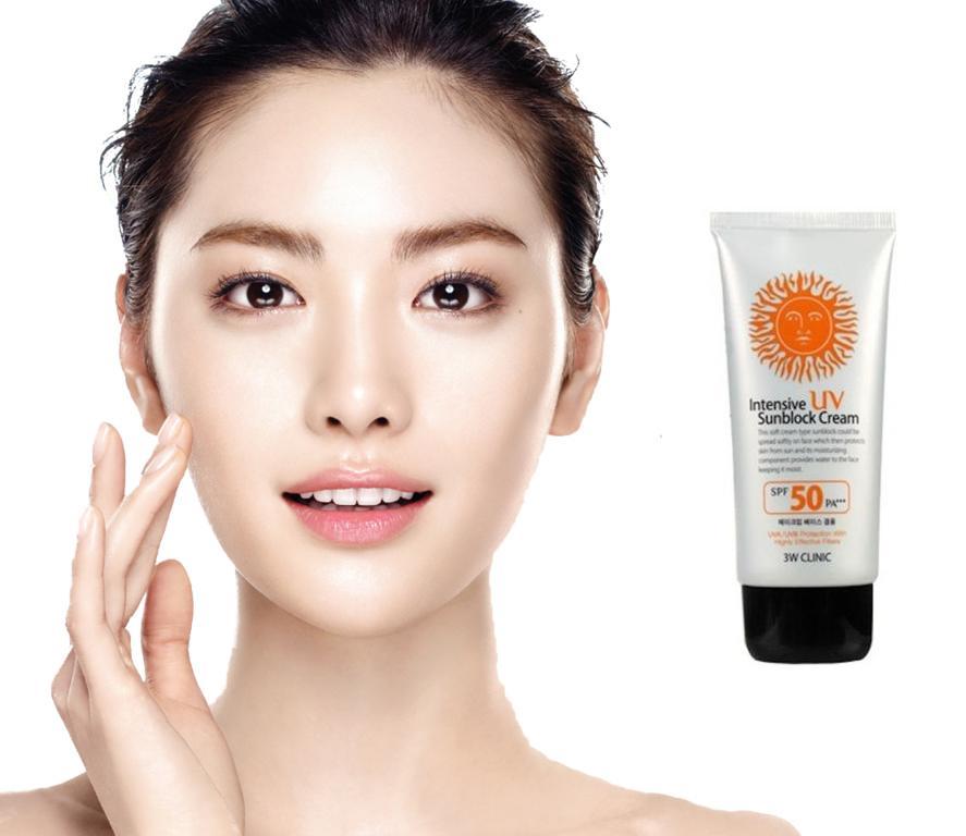 Kem Chống Nắng Hoàn Hảo 3W Clinic Intensive UV Sunblock CreamSPF 50++ (70ml)