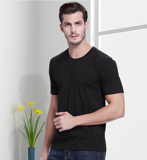 Hình ảnh Áo Thun nam cổ tròn 100% cotton hàng xuất khẩu nhật bản (đen)