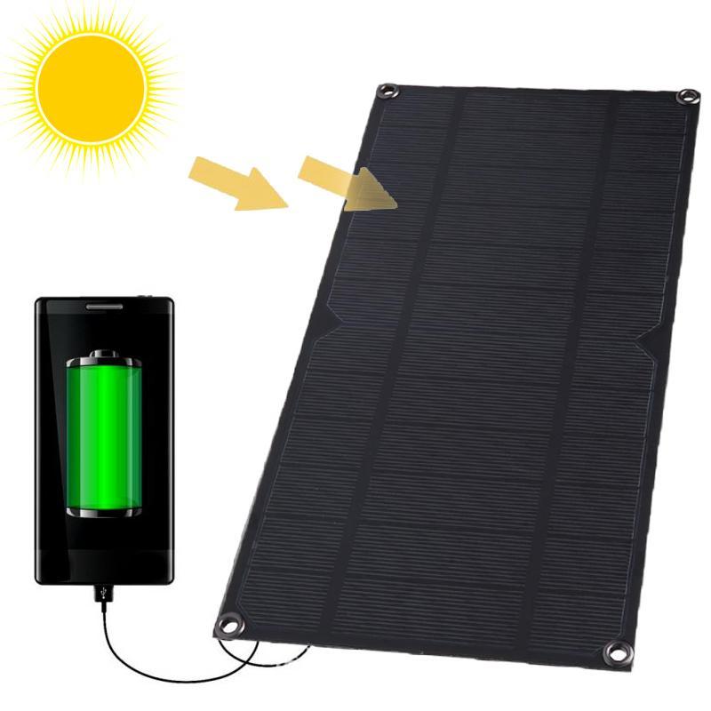 Hình ảnh Tấm pin năng lượng mặt trời cổng ra USB 5V 6W