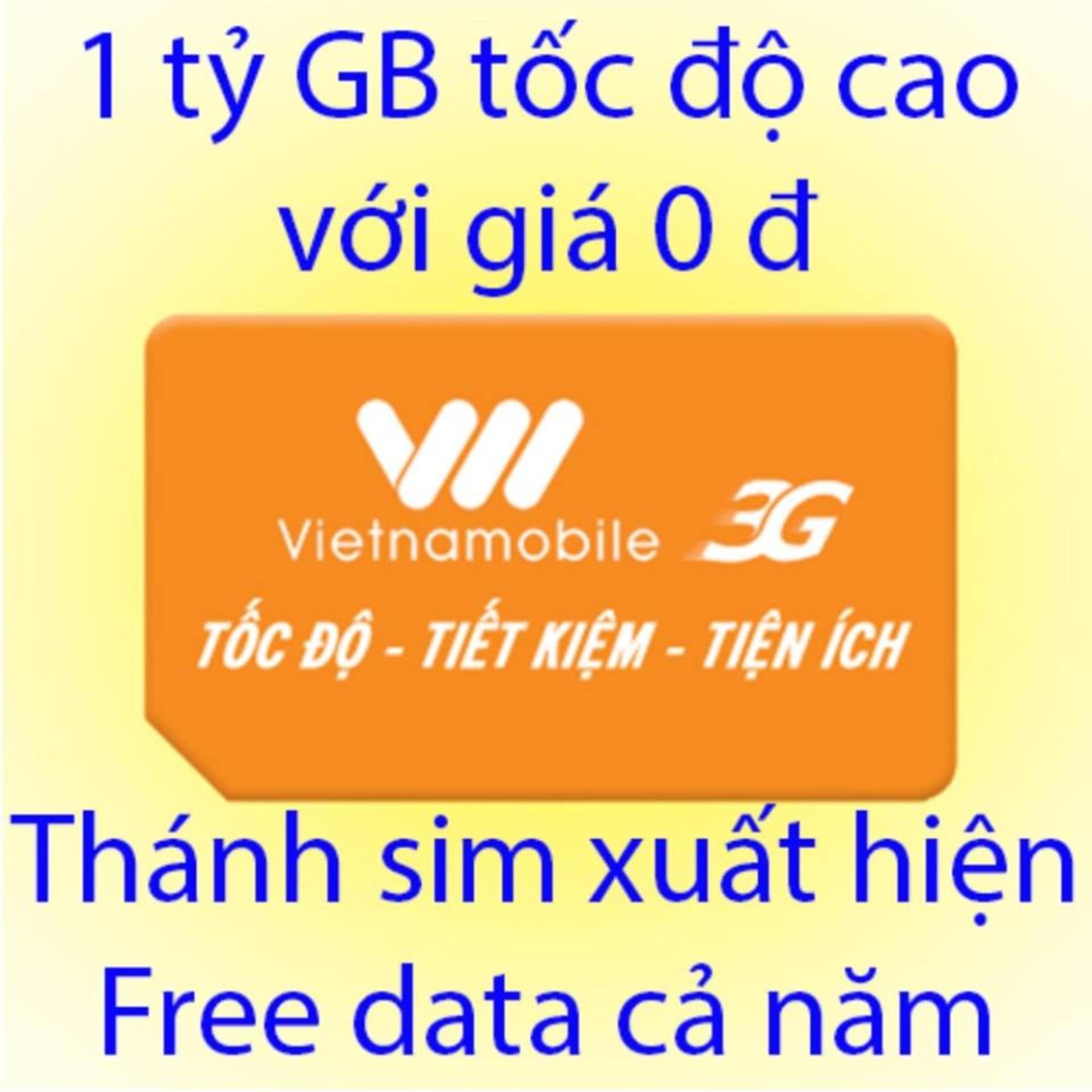 Hình ảnh Thánh sim 3G Vietnamobile - - FREE 4Gb/ngày