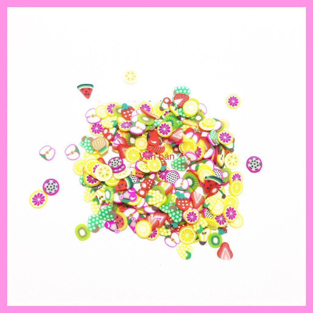 Hình ảnh Cốm Trái Cây Hoa Quả ( Freeship ) - 10Gram - Nguyên Liệu Làm và Trang Trí Slime