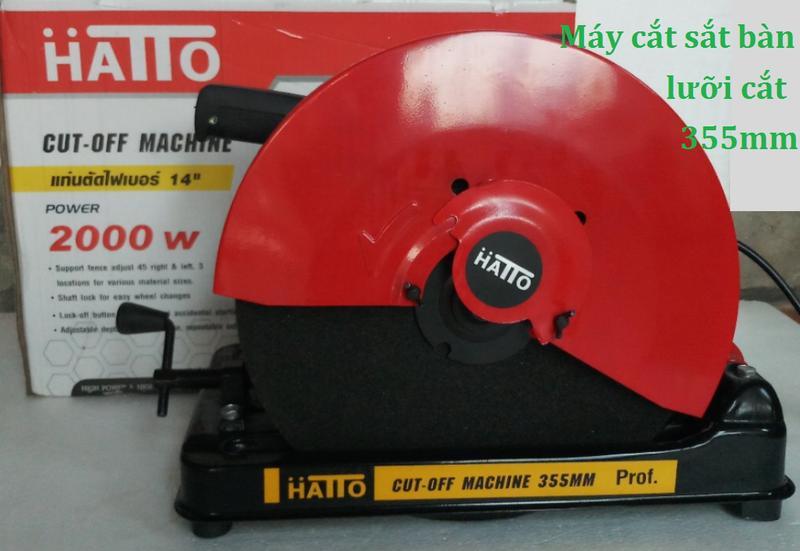 Máy cắt sắt bàn Hatto 355HB Đỏ
