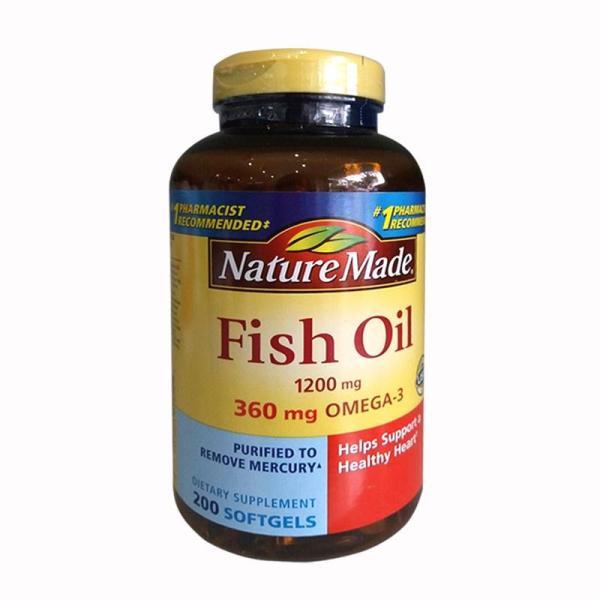 Nature Made Fish Oil Omega 3 Dầu cá bổ sung Omega 3 hộp 200v