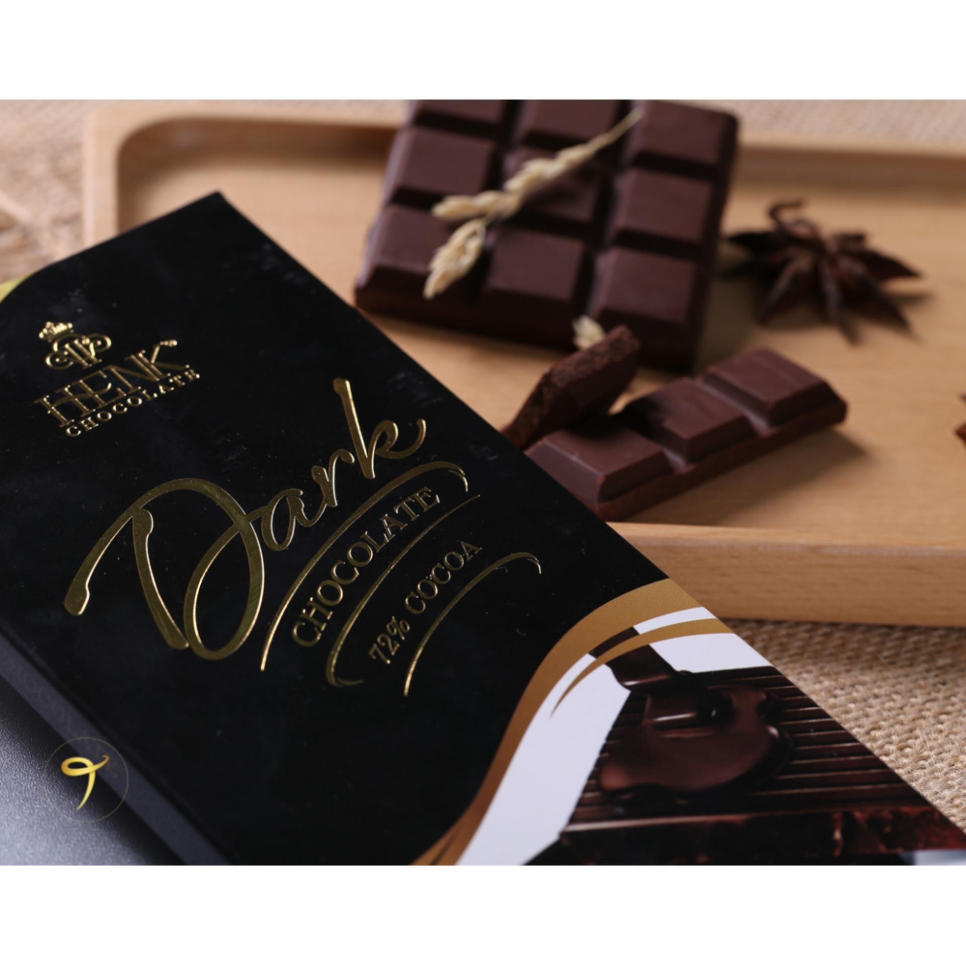 Hình ảnh Socola thanh 100g đen 72% | Henk Chocolate