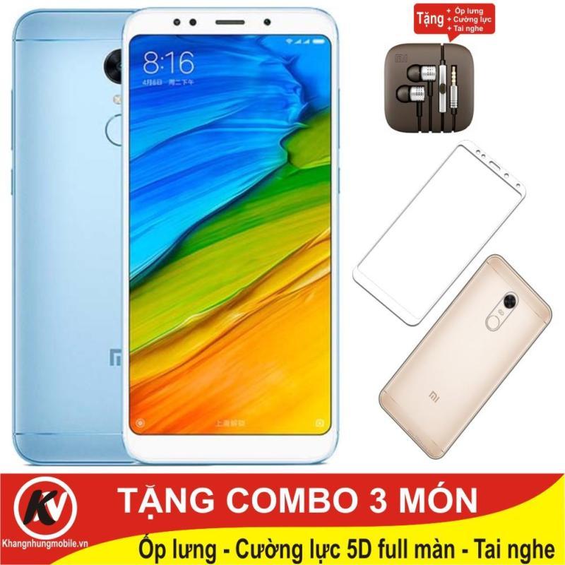 Xiaomi Redmi 5 Plus, Redmi5 Plus, Redmi5Plus - 32GB Ram 3GB Kim Nhung + Ốp lưng + Tai nghe + Cường lực full màn hình 5D