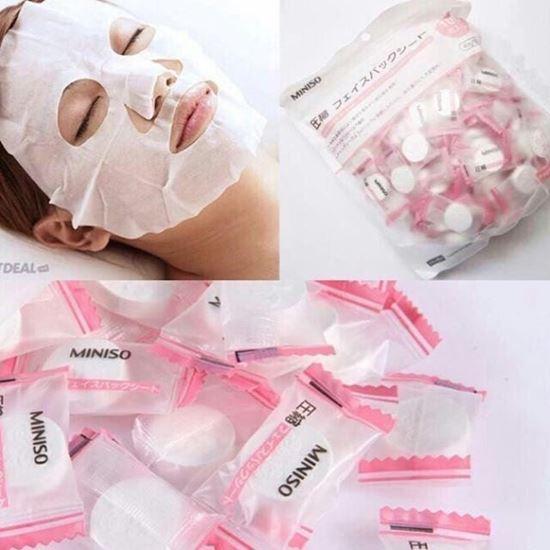Gói 100 viên Mặt Nạ giấy nén Miniso từ Nhật Bản