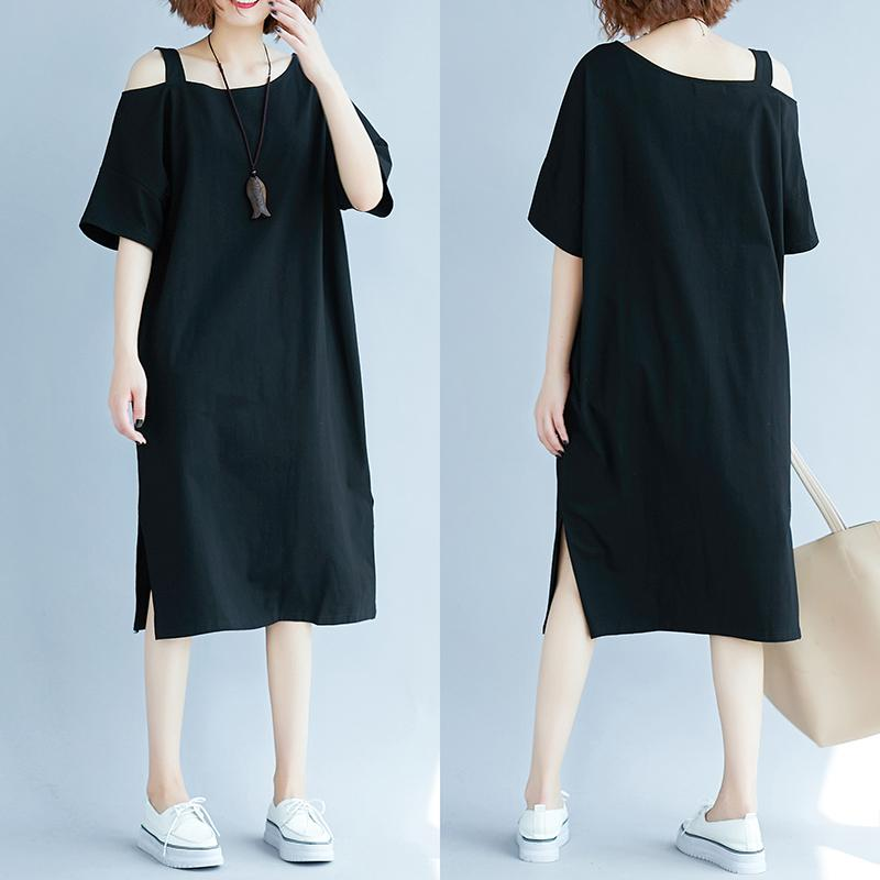 d4c918a4646 Large Size Dress off-the-Shoulder Dress 2019 New Style Female Summer Loose  200